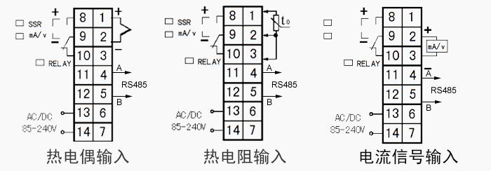 热电阻pt100输入pid智能控制温控仪带rs485/232通信